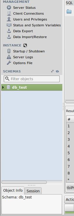 drop database